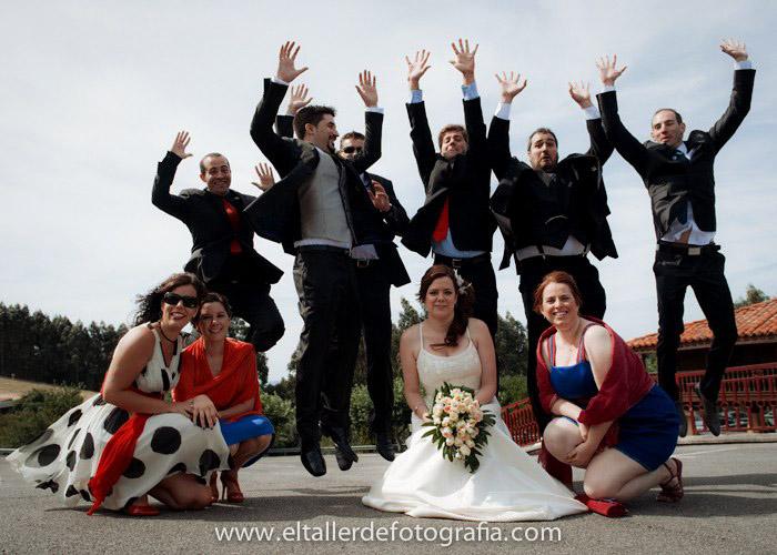 Fotografia divertida de boda en gijon, asturias