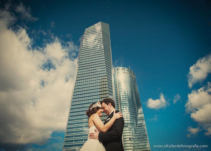 Posboda en las Torres de la Castellana en Madrid - Ruben y Beatriz - El Taller de Fotografia -1005