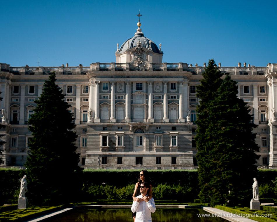 Preboda con el palacio real de Madrid - Realizada desde Sabatini