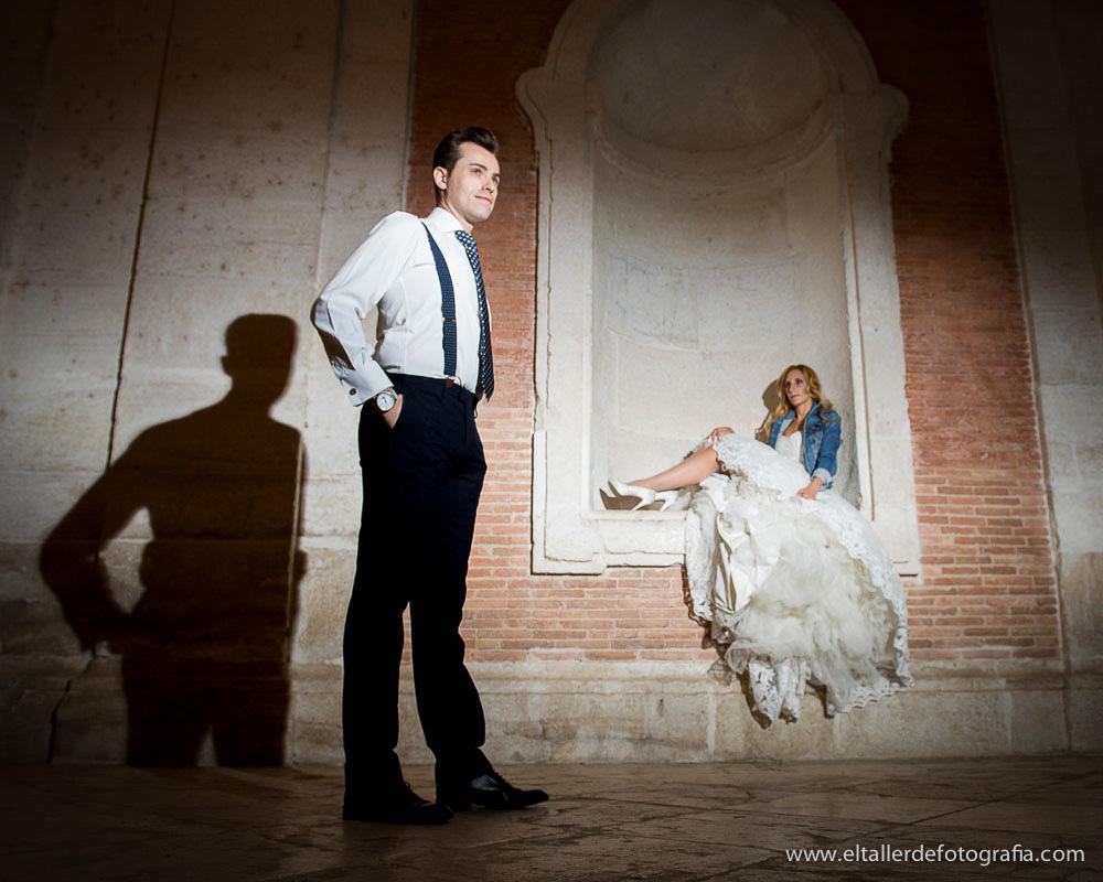 Fotografías divertidas de posboda en Aranjuez