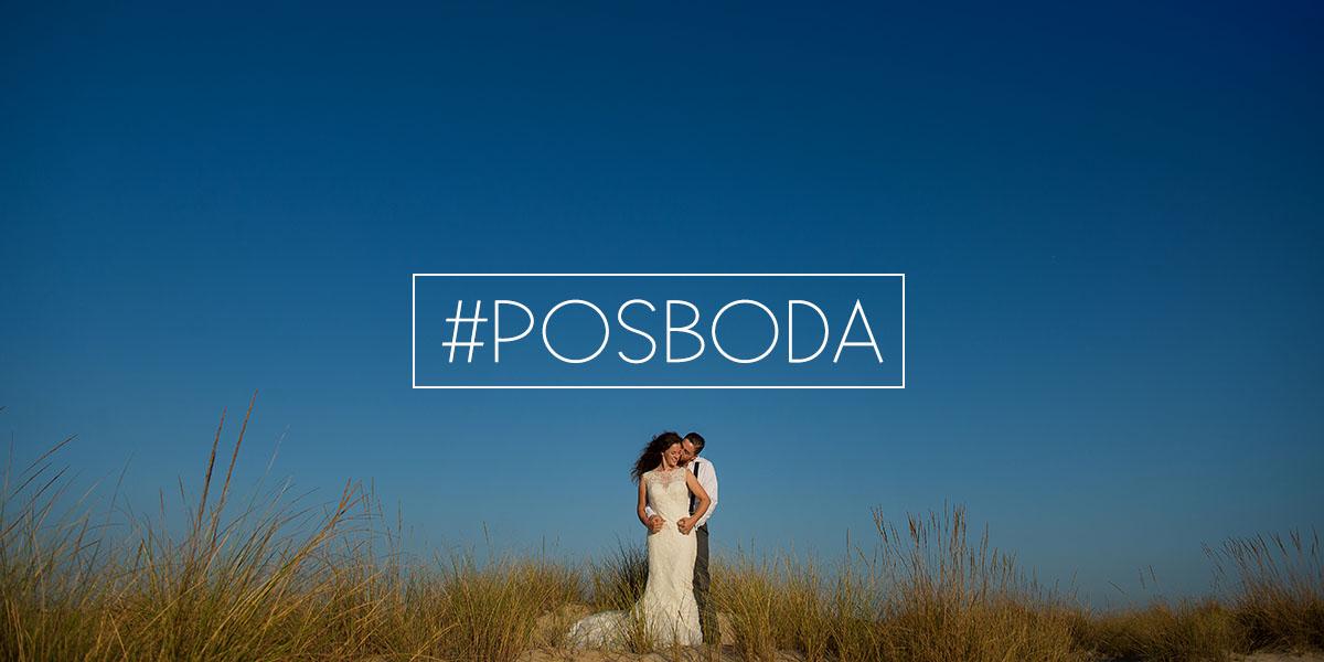 Fotografia de una Posboda en la playa de Cadiz - Novios abrazandose en las dunas de la playa de Cadiz - Cabecera de la pagina de Inicio de El Taller de Fotografia