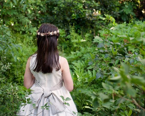 Detalle de la espalda de un vestido de El Taller de la Abuela