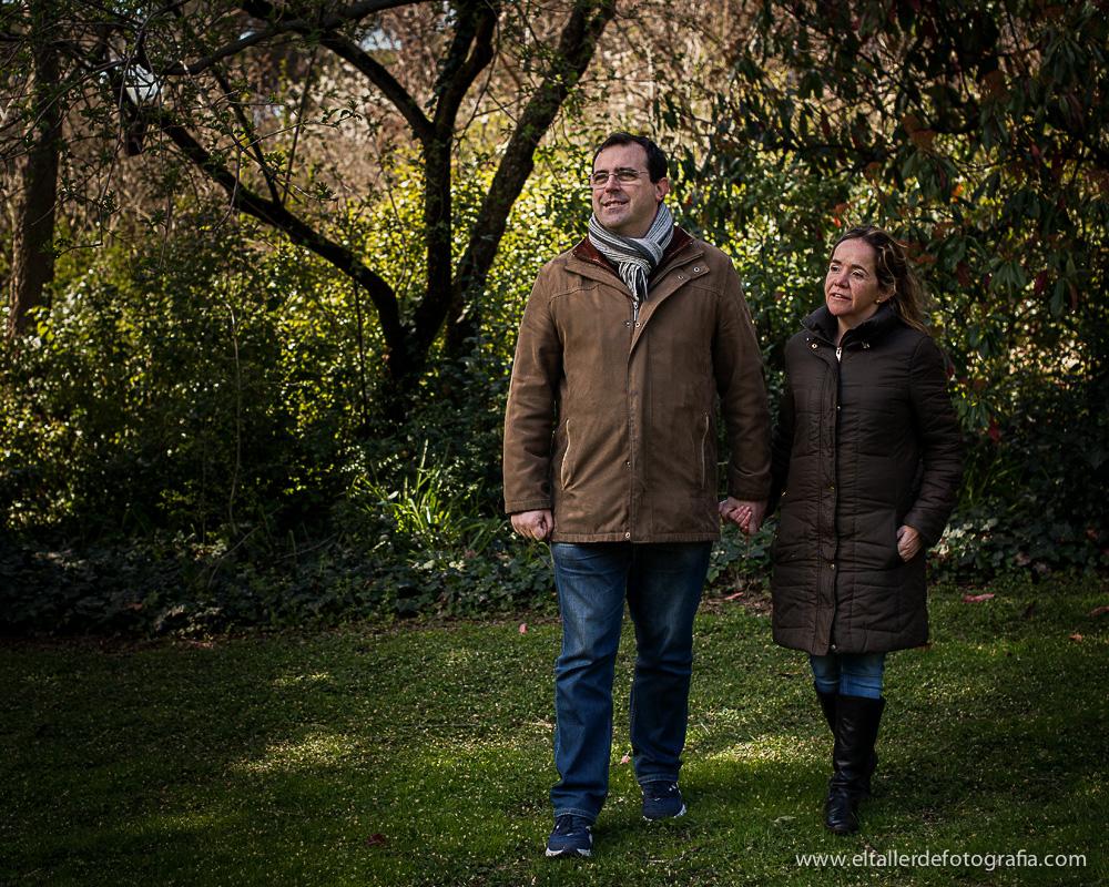 Foto de Pareja en el Parque de El Capricho de Madrid
