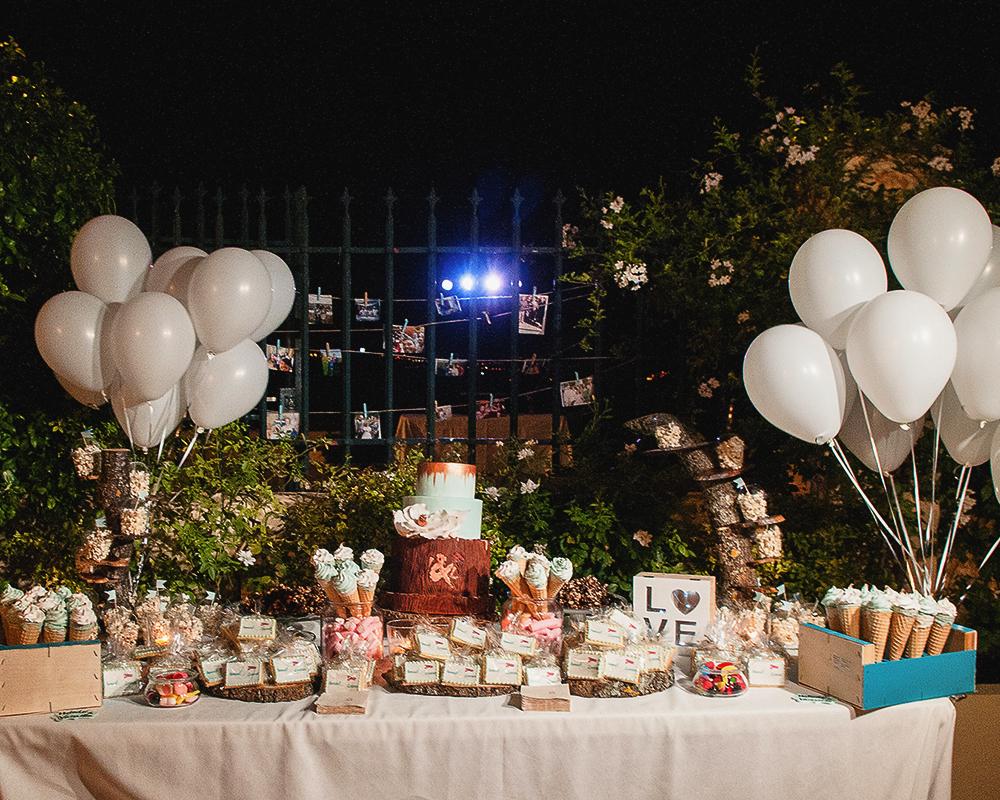 Mesa de Chuches para la boda