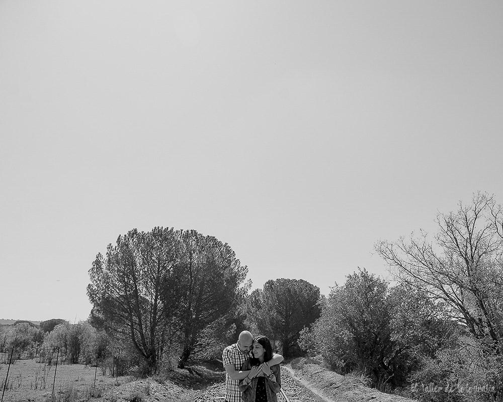 Fotos de novios diferente en blanco y negro