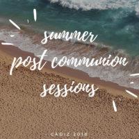 Cartel anunciando las sesiones de pos-comunion en Cadiz