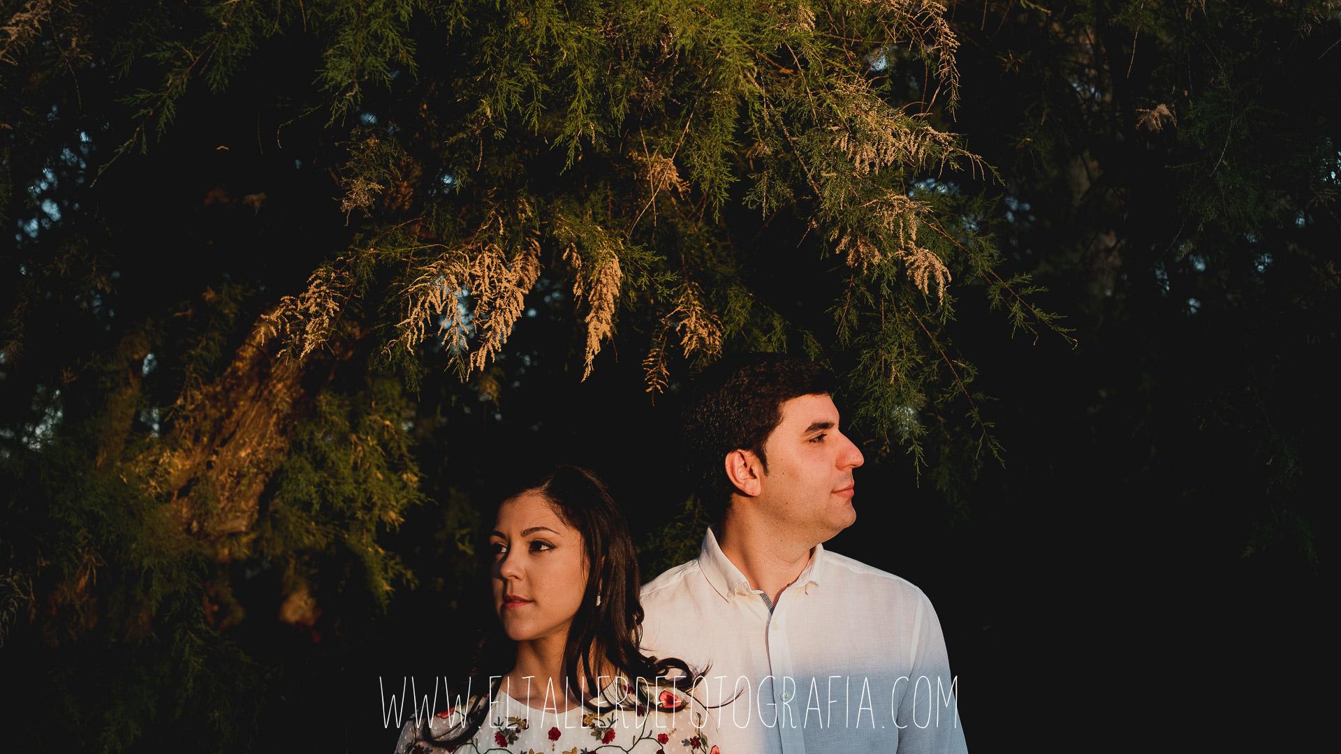 Jose Antonio y Soraya al atardecer