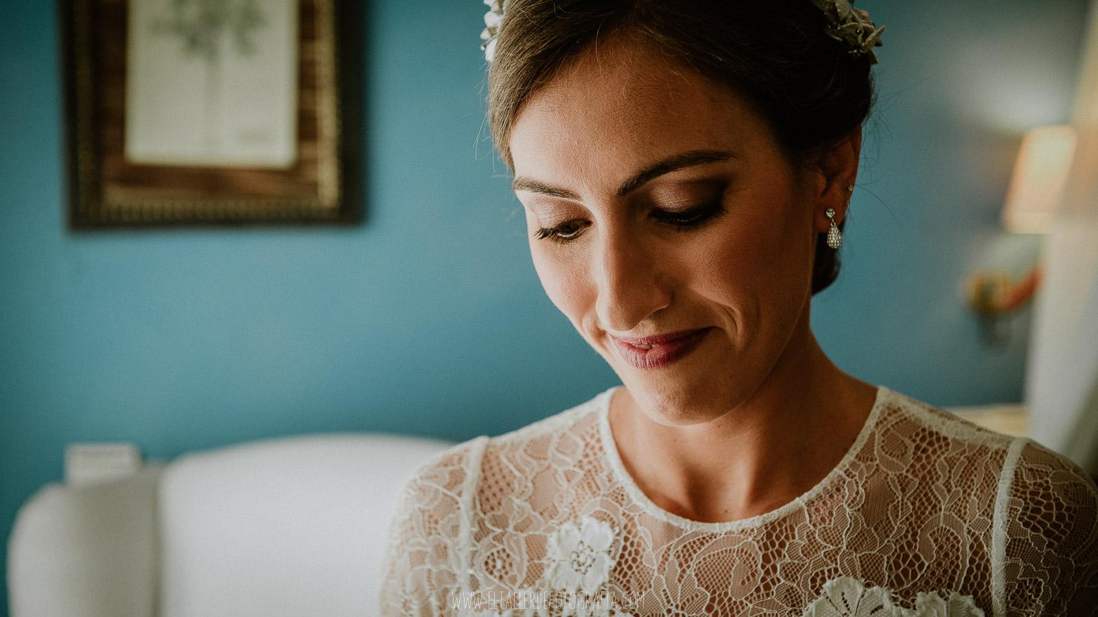 retraro de una novia sonriente