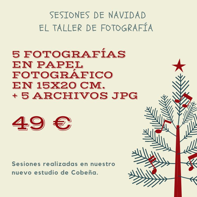 Informacion sobre oferta de fotografia de navidad 2019 en el taller de fotografia
