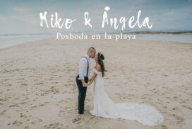 El Taller de Fotografia - Posboda en la playa de Kiko y Angela - Portada en baja