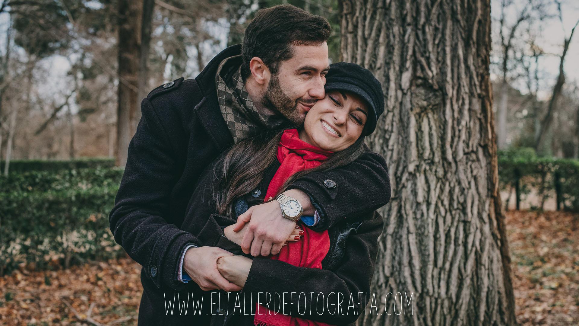 Fotos de pareja en el parque de El Retiro de Madrid